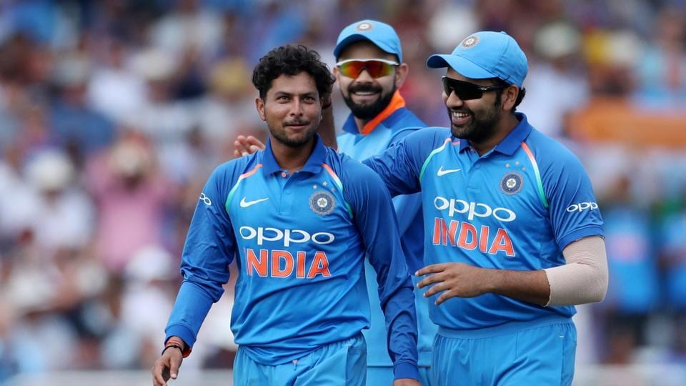 Riding Kuldeep Yadav's 6/25 and Rohit Sharma's unbeaten 137, India defeated England by eight wickets at Trent Bridge, Nottingham to go 1-0 up in the three-match ODI series. (REUTERS)