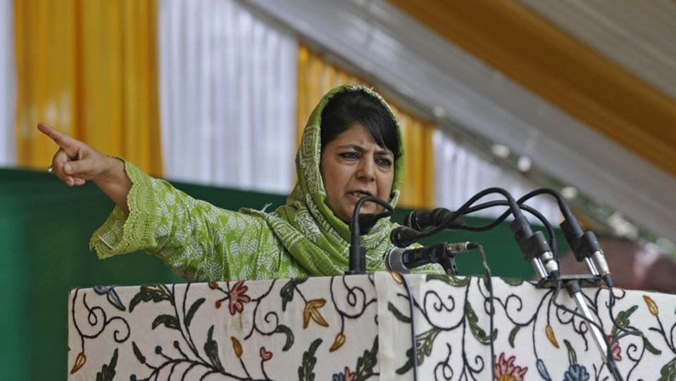 "PDP president and former chief minister of Jammu and Kashmir Mehbooba Mufti on Friday issued a strong warning to former ally Bharatiya Janata Party that efforts to break her party could have ""dangerous consequences"". Mufti resigned in June after the BJP ended its three-year alliance with her party citing rising security crisis in Jammu and Kashmir. (Waseem Andrbai / HT File)"