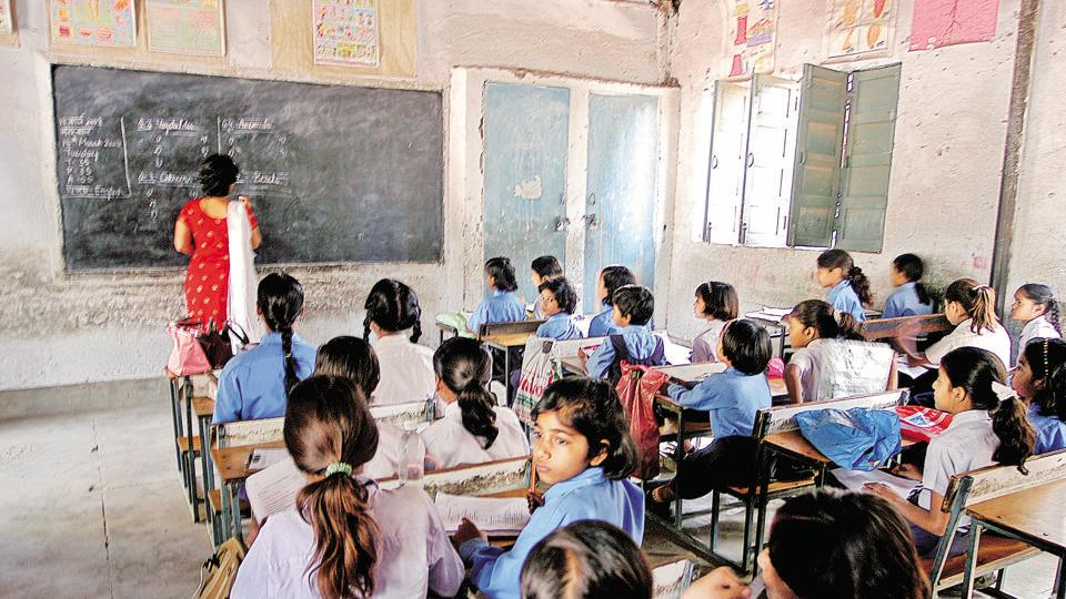 A primary School in Dilshad Garden, New Delhi.  To improve results in classroom, providing performance-based incentives to teachers helps.