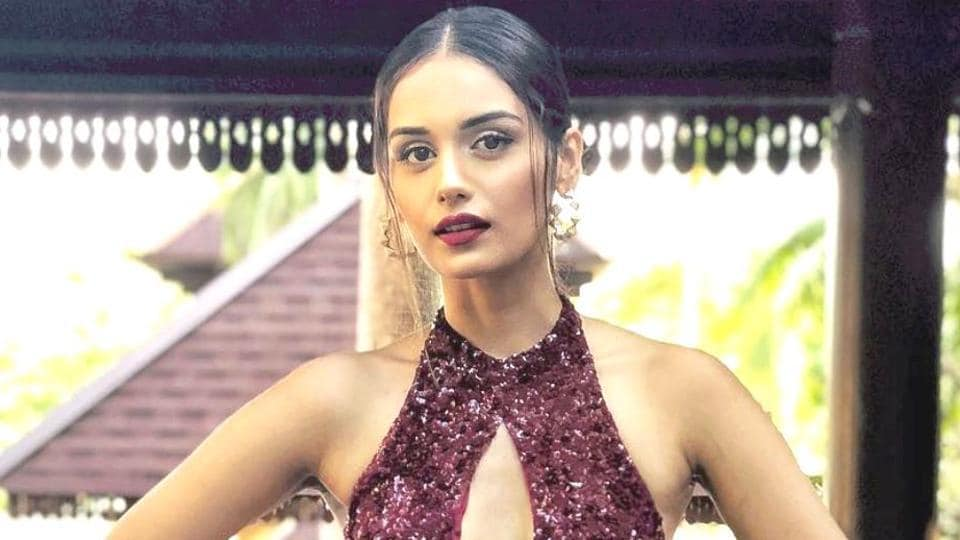 Manushi Chhillar's elgant, sleek outfit isn't exactly conservative, but it'll definitely leave them thinking highly of you. (Instagram)