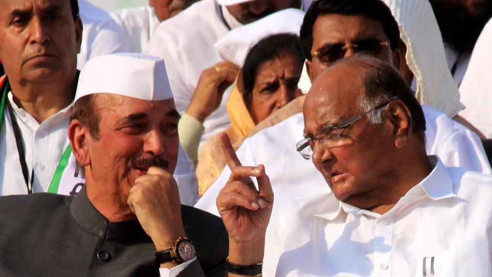 NCP President Sharad Pawar and Congress leader Gulam Nabi Azhad.