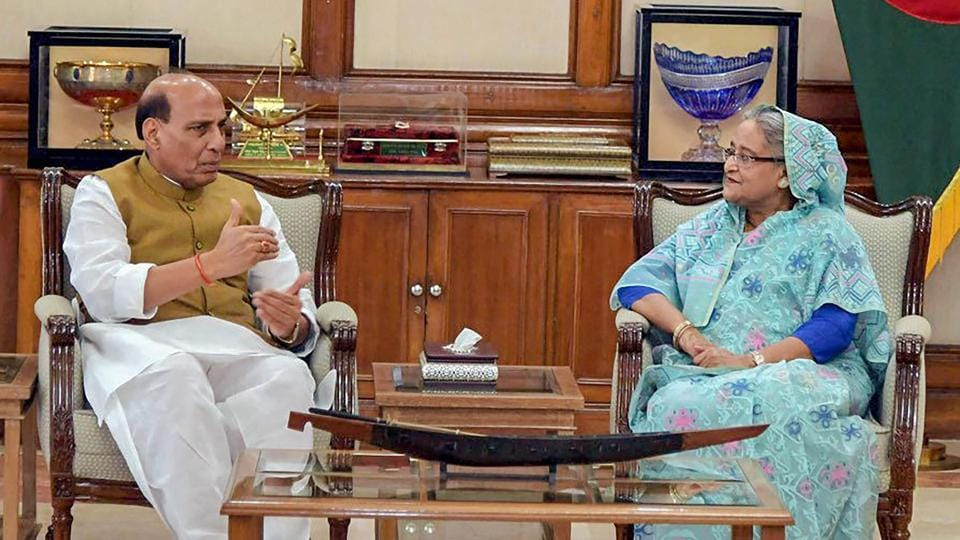 Rajnath Singh,Sheikh Hasina,Rohingya Muslims