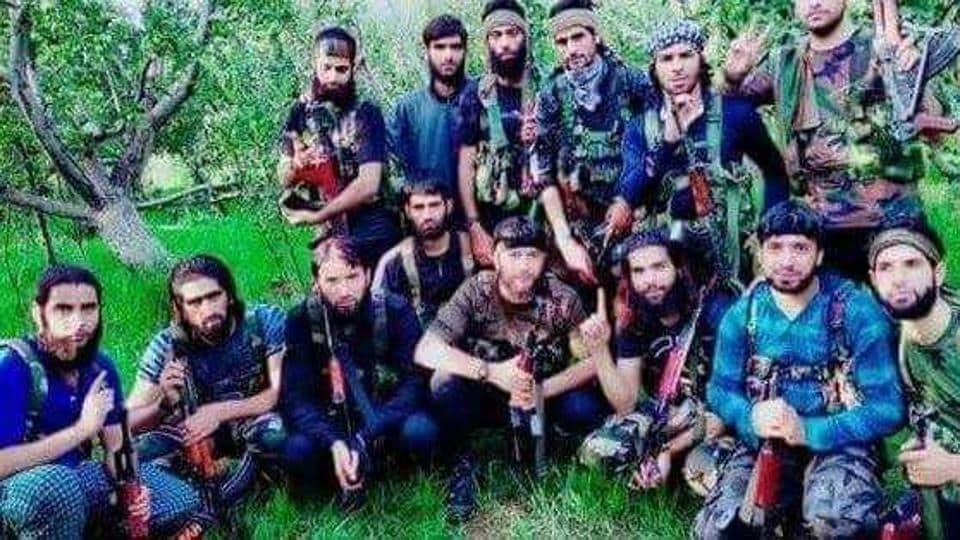 Kashmir militants,Burhan Wani,Hizbul Mujahideen