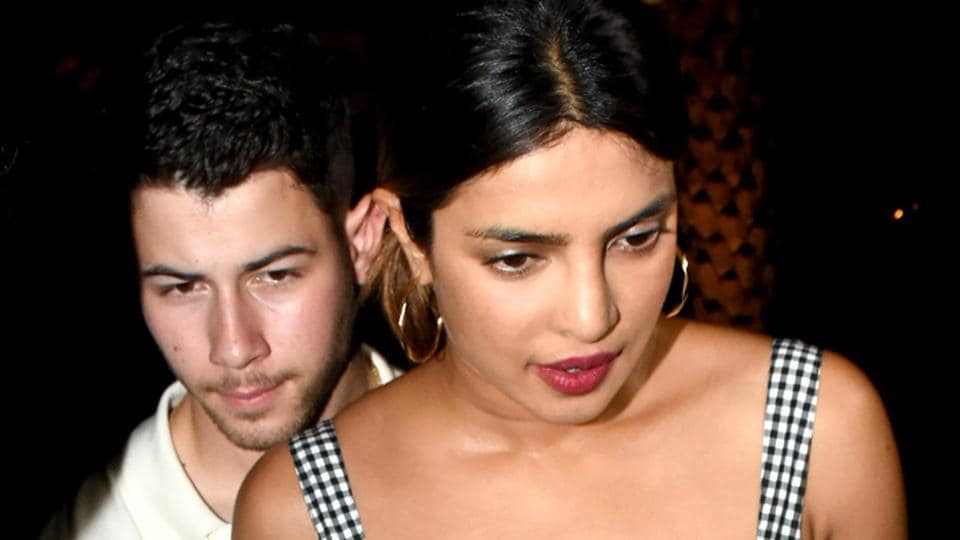 Bollywood actor Priyanka Chopra and American singer-songwriter Nick Jonas spotted at Yauatcha restaurant.