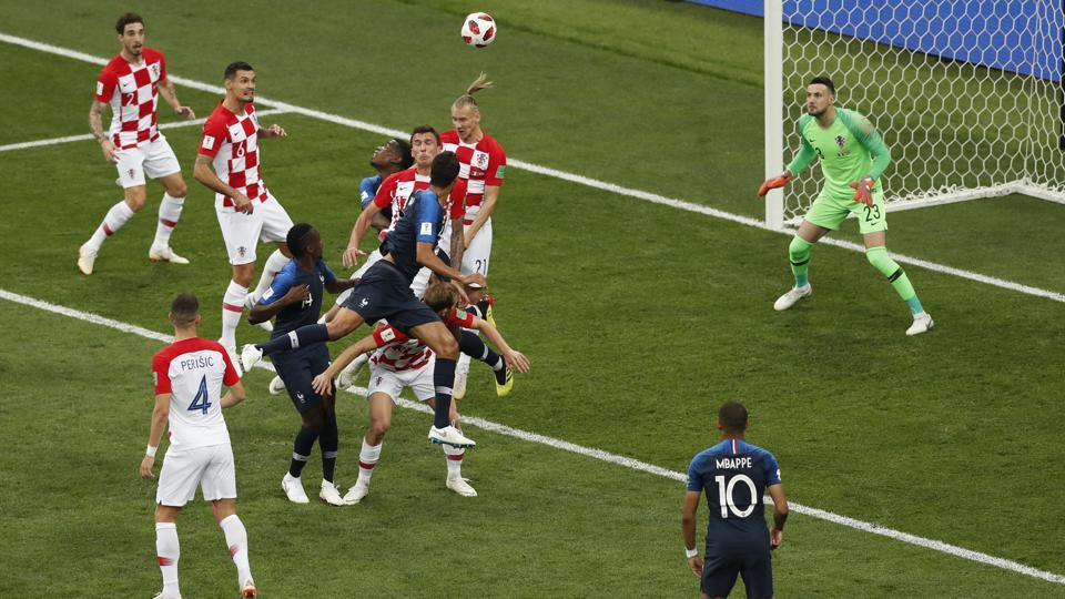 Croatia's Mario Mandzukic scored an own goal to give France the lead during the FIFAWorld Cup 2018 final at the Luzhniki Stadium in Moscow on Sunday.