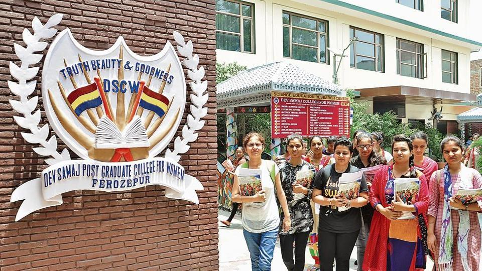 Dev Samaj Postgraduate College for Women, Ferozepur. About 30 girls, six of them Muslims were in the first batch admitted to college in 1934.
