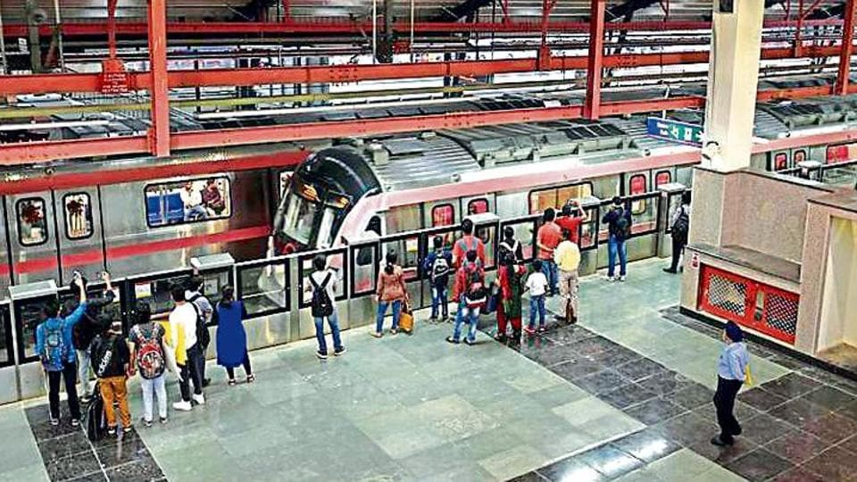 The inspection of the Lajpat Nagar-­Durgabai Deshmukh South Campus section of Delhi Metro's Pink Line will be conducted on July 23 .