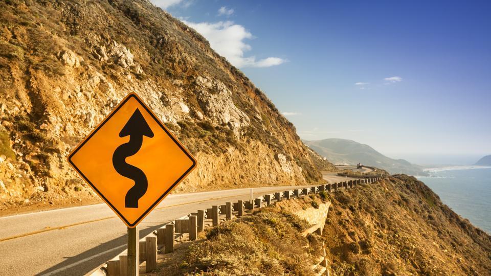 California,Car drives over cliff,Big Sur