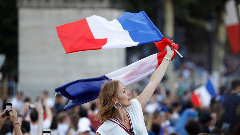 Millions of French fans were overwhelmed with joy on Sunday as France beat Croatia 4-2. (REUTERS)