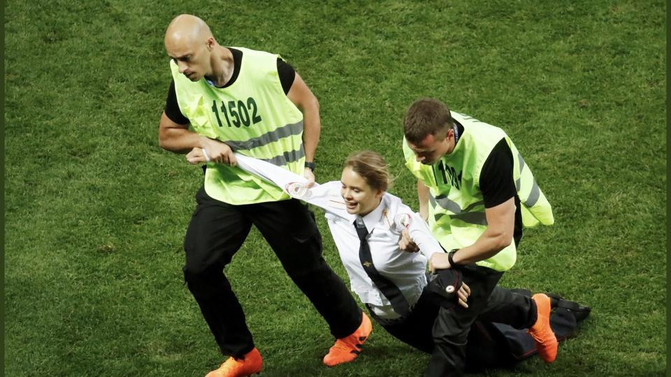 Pussy Riot members,Russia,FIFA World Cup 2018 final