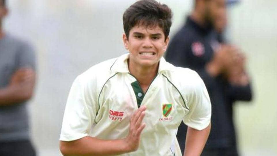 Arjun Tendulkar claims first global wicket on U-19 debut