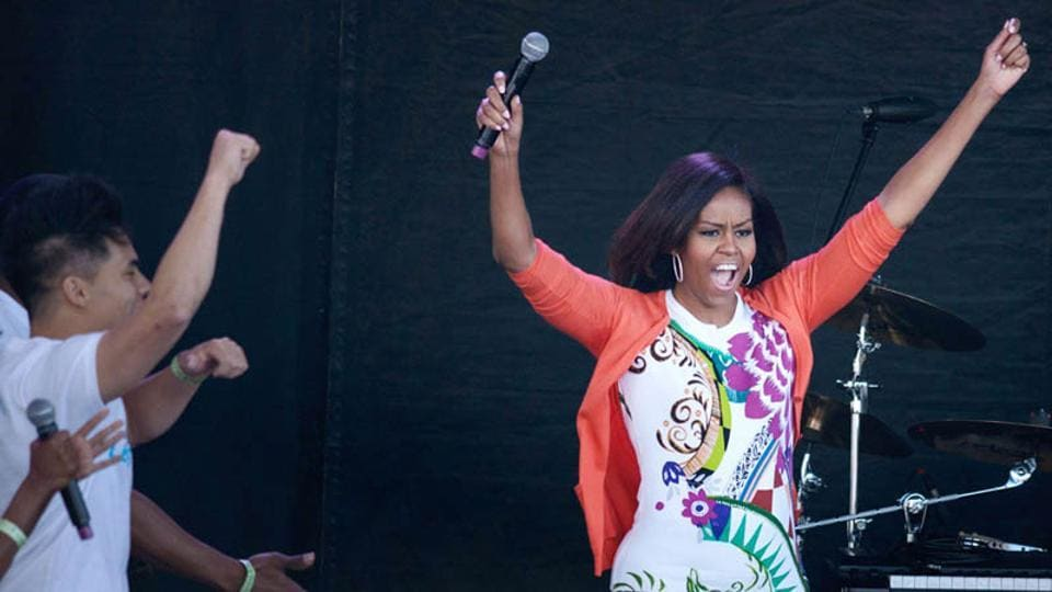 Michelle Obama spotted at Beyonce and Jay Z's concert in Paris