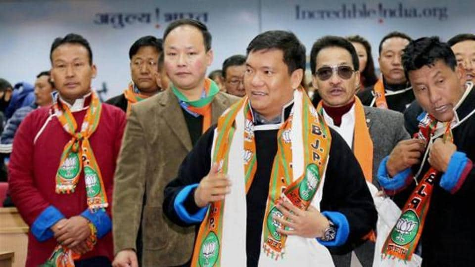 Pema Khandu heads the BJP government in Arunachal Pradesh.