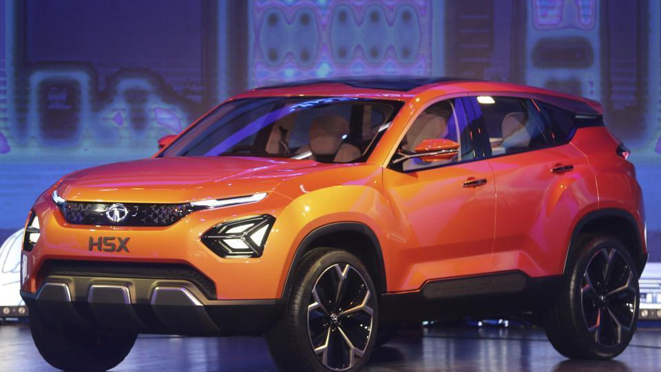 Tata's newly launched H5X on display at the Auto Expo 2018.