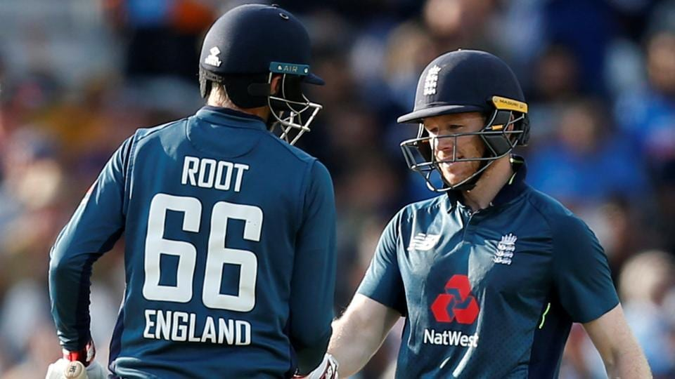 Joe Root and Eoin Morgan's 186* runs partnership won the 3 match ODI series for England. (Photo - getty)