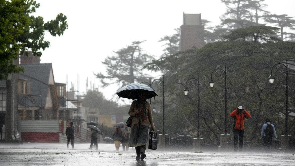 The local Met office said  that Manali continued to be the coldest place in Himachal Pradesh as rain lashed some parts of the state in the last 24 hours. The high-altitude resort town also received the maximum rainfall of 28.4 mm in the last 24 hours, followed by Kufri hill station (18 mm), Shimla (10.9 mm) and Dharamshala (4.4 mm), said Manmohan Singh, director of Meteorological Centre, Shimla. (Deepak Sansta / HT File)