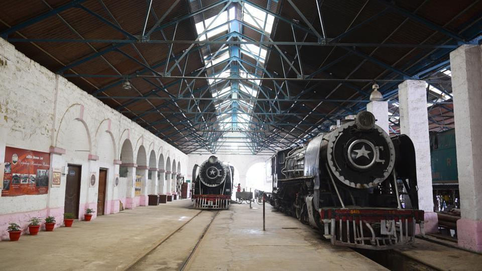The Rewari railway heritage museum was set up in 1893. It is the only surviving steam locomotive shed in India and houses some of country's last surviving steam locomotives. The world's oldest still-functional 1855 steam locomotive, Fairy Queen, a tourist train, was restored here. The museum is located 400 metres to the north of the entrance of Rewari railway station, 50 kilometres from Gurugram. (Sanjeev Verma / HT Photo)