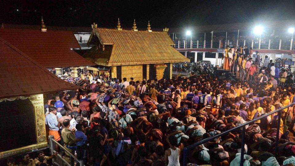 The Supreme Court on Wednesday said denying women entry into Kerala's Sabarimala shrine was against the Constitutional mandate. A constitution bench  comprising Chief Justice Dipak Misra, Justices Rohinton Fali Nariman, AM Khanwilkar, DY Chandrachud and Indu Malhotra was hearing a plea whether prohibiting the entry of women in the temple on grounds of biological factors was discriminatory and violative of the Constitution. (PTI File)