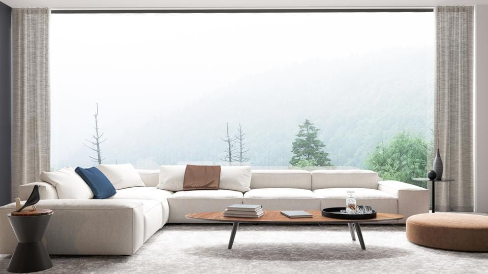 Sheer curtains are transparent and lend an airy and spacious feel to a room during the monsoon.