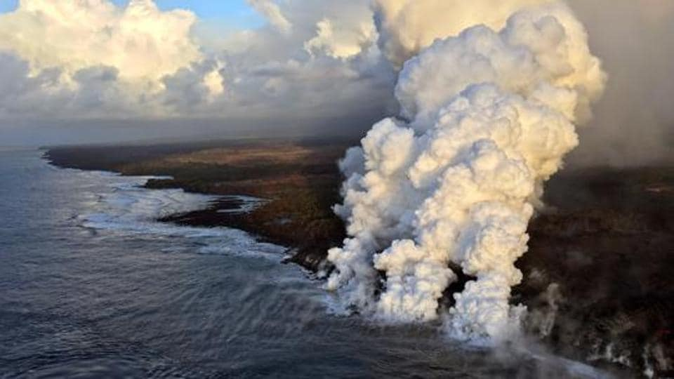 Hawaii's Kilauea volcano,Kilauea collapse explosion,Kilauea volcano's summit