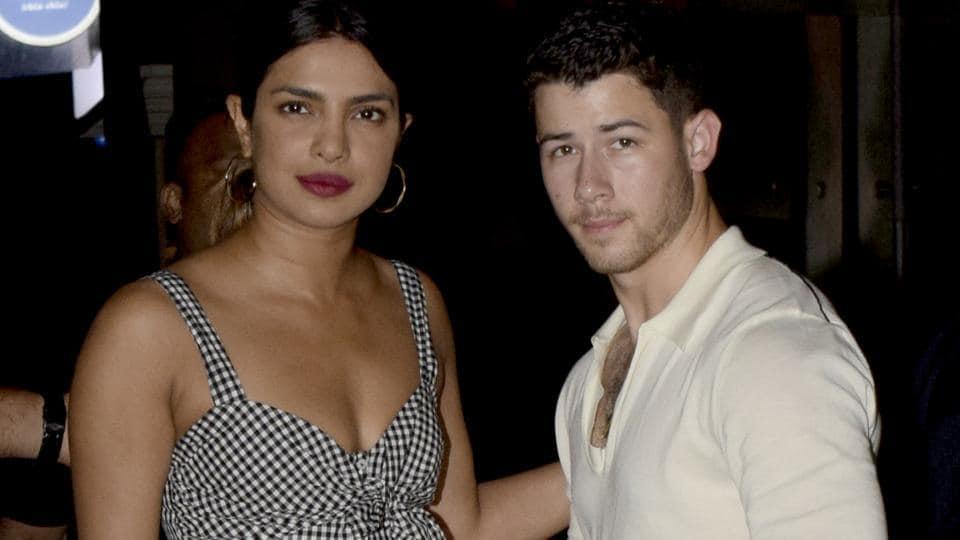 Priyanka Chopra and Nick Jonas at Yauatcha restaurant BKC in Mumbai, India.