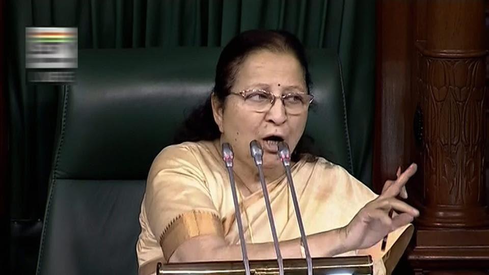 Sumitra Mahajan,No confidence motion,Lok Sabha