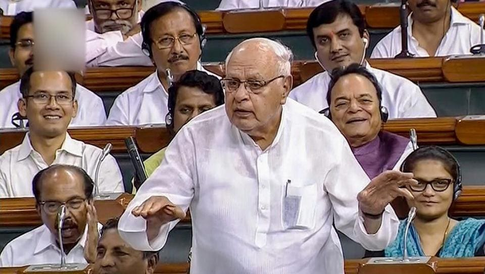 Farooq Abdullah,No confidence motion,No confidence motion against pm