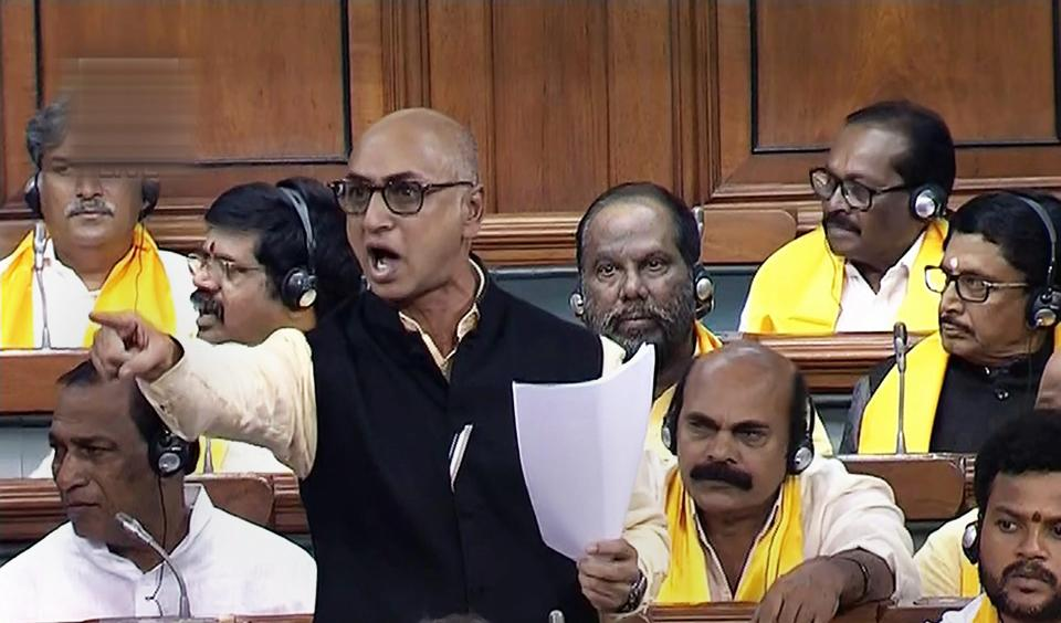 Jayadev gave stentorian speech in Lok Sabha winning hearts of AP people