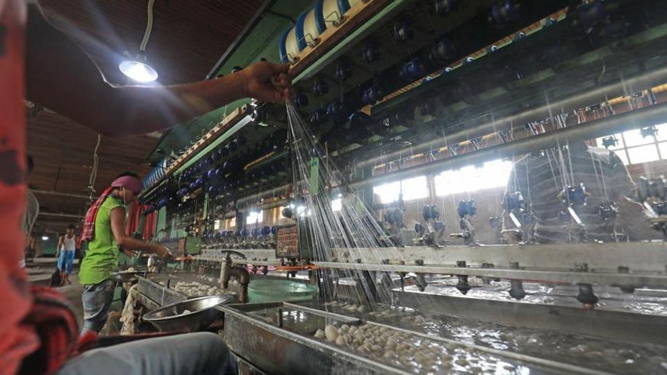 Kashmir,silk production,silk factory