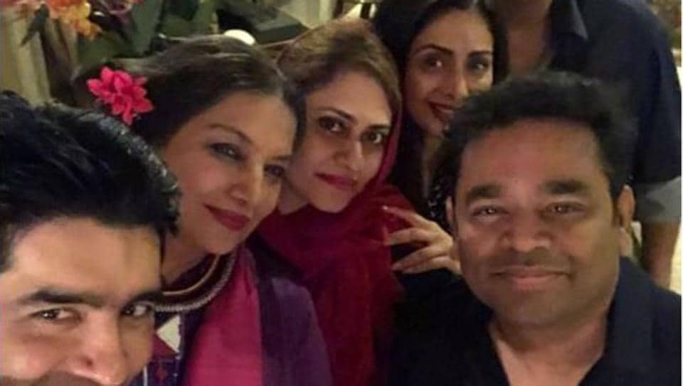 Shabana Azmi,Sridevi,Janhvi Kapoor