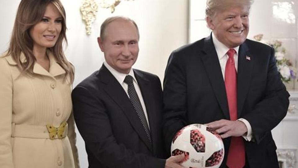Putin,Trump,Soccer ball