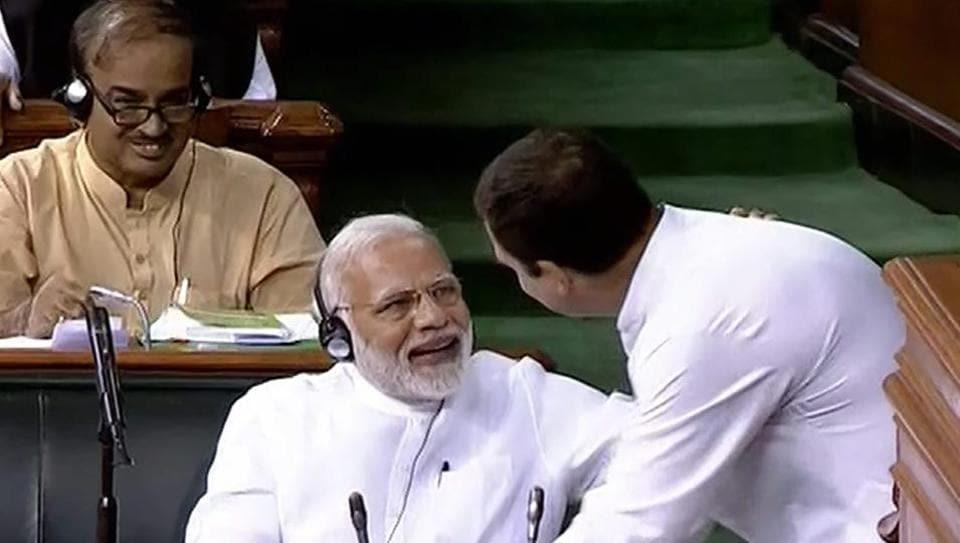 Rahul Gandhi hug,Narendra Modi,Rahul Modi hug
