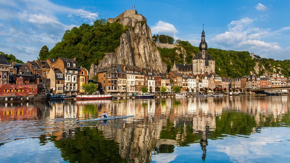 Dinant in Belgium boasts of 2,000km of signposted trails, a beautiful river, majestic ruins and beautiful gardens.  (shutterstock)