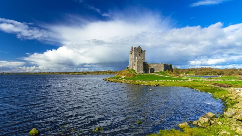 Galway in Ireland features the 18th-century Eyre Square, the Dunguaire Castle which is a 16th-century tower house, traditional pubs that play Irish music, boutiques and art galleries.  (shutterstock)