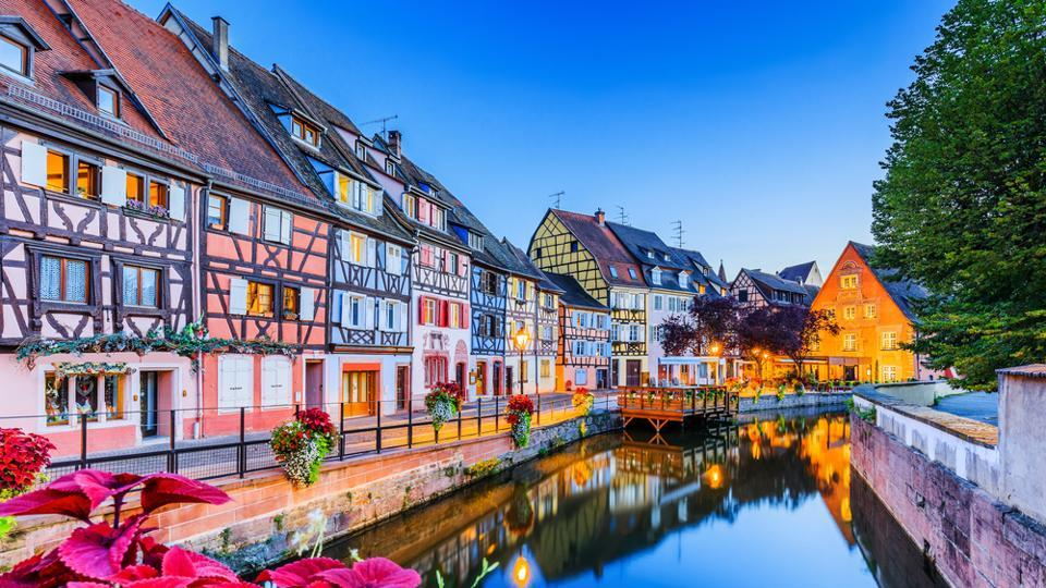 Colmar is a town in France near the border with Germany. It boasts of cobblestone streets lined with medieval and early Renaissance buildings. Highlights include a Gothic 13th-century church as well as local vineyards. (shutterstock)