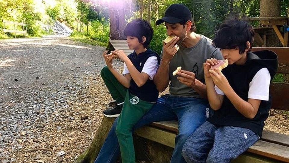 Hrithik Roshans On Top Of The World With Sons Hrehaan Hridhaan