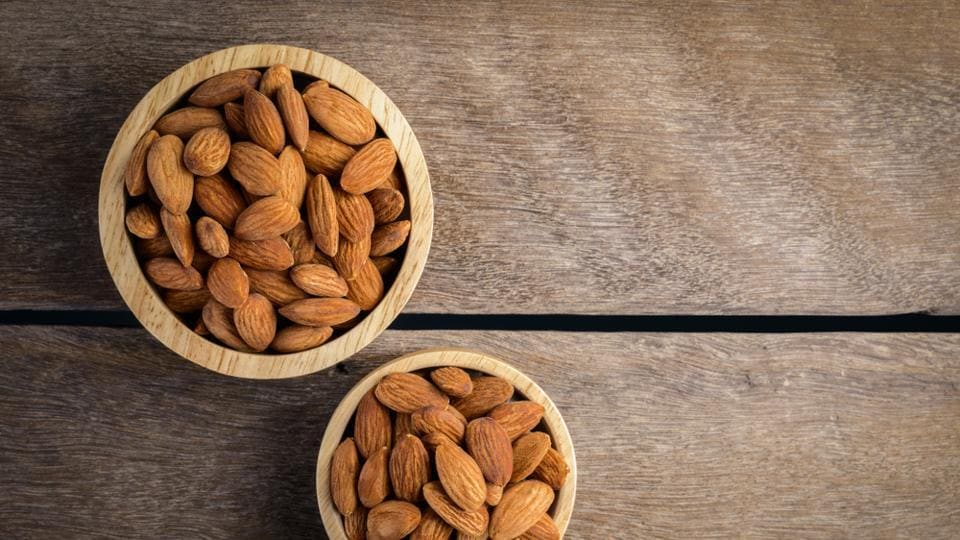 "Almonds are the most nutritionally dense nut, and are loaded with Vitamin E, potassium, calcium, magnesium and iron. ""Studies have shown that eating almonds has a beneficial effect on lowering cholesterol along with bad cholesterol.  (Shutterstock)"
