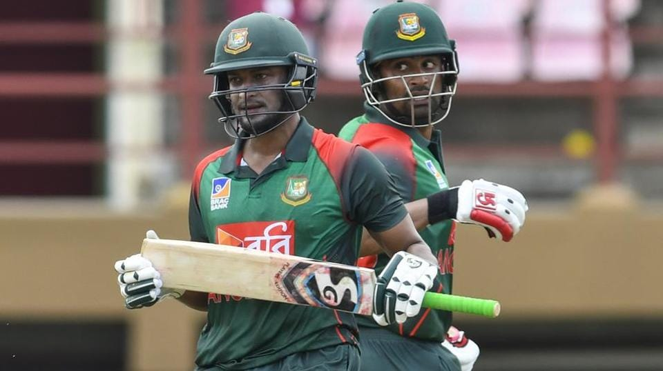 Tamim Iqbal and Shakib al Hasan added 207 runs in the first ODI match against West Indies. (Photo - getty)