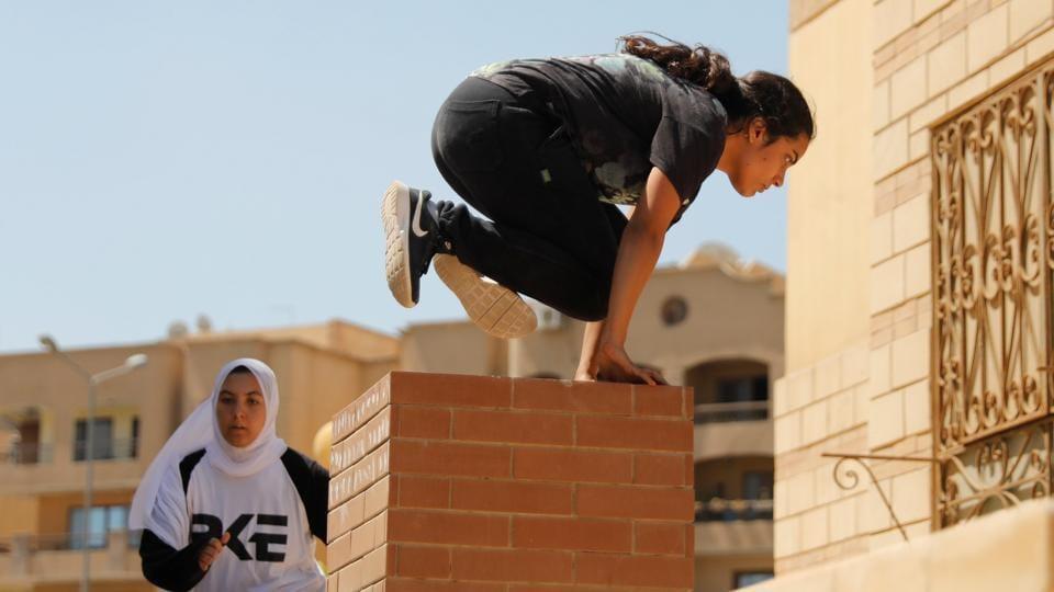 Egyptian women from Parkour Egypt