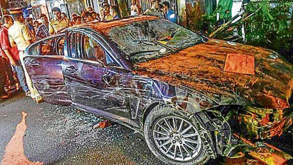 Jaguar accident Mumbai,Mumbai road accident,Jaguar