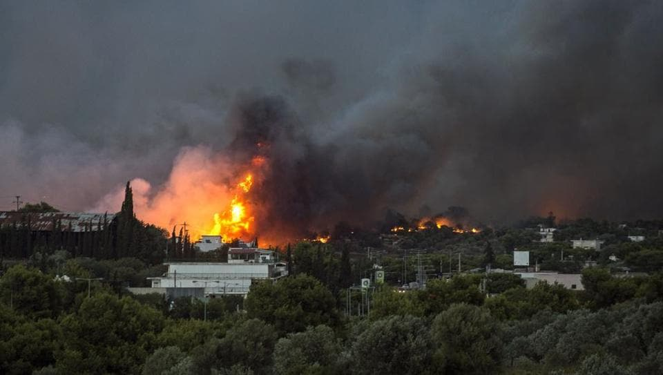 Athens,Greek Wildfires,Wildfire