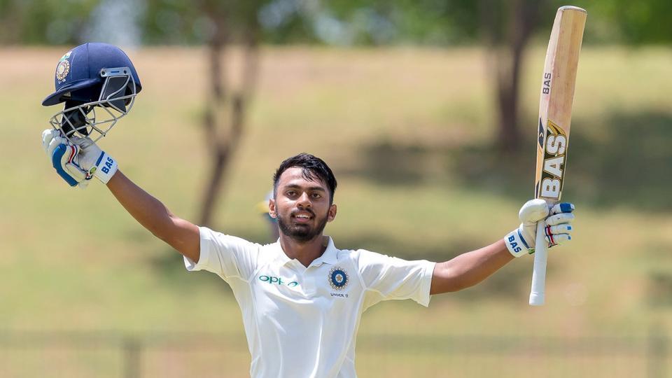 India U19 batsman Pawan Shah scored 282 runs against SL U19 in the second Youth Test match. (Photo - Sri Lanka twitter)