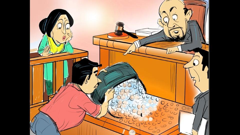 Alimony in coins,Maintenance in coins,Chandigarh lawyer alimony coins