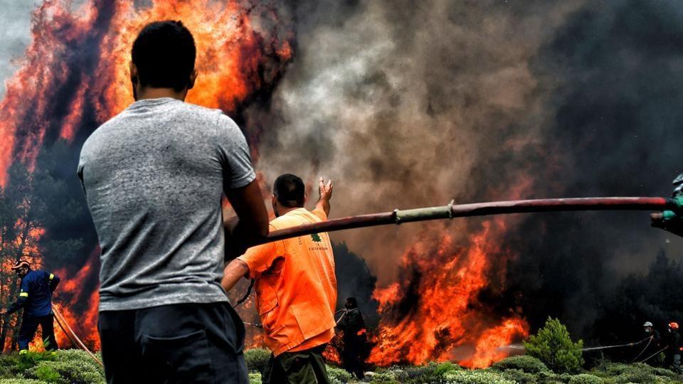 Greece wildfire,Greece wildfire kills 74,Athens