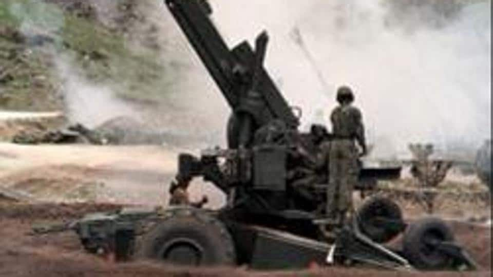 (FILES) A photo dated 21 June 1999 shows Indian artillery men firing 155mm Bofors guns at enemy positions from a gun emplacement on the Srinagar to Kargil road.  We haven't added a gun in that category since, in 31 years.