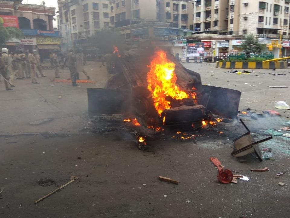Maharashtra bandh,Mumbai bandh,violence in Navi Mumbai