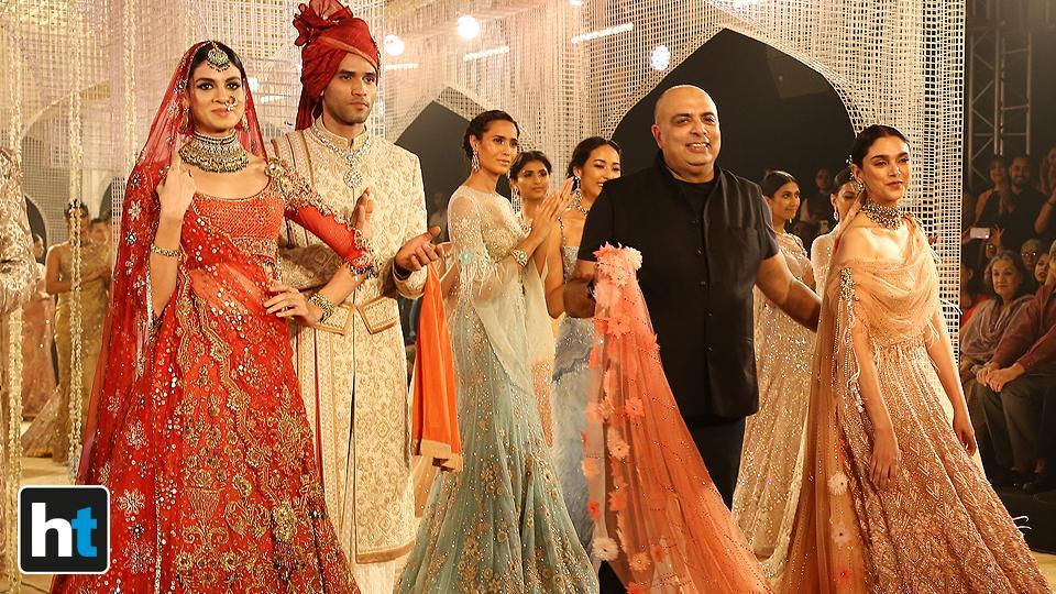 Aditi Rao Hydari also said that she cannot wait to team up with Tarun Tahiliani again. (Raajessh Kashyap/HT Photo)