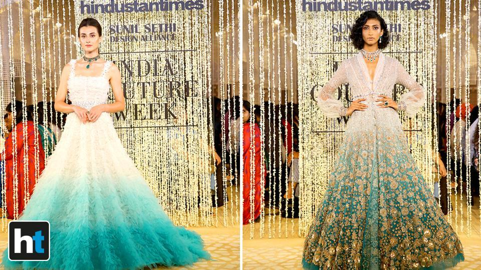 Tahiliani's collection was titled In Elysium on the opening day of the India Couture Week 2018.  (Raajessh Kashyap/HT Photo)