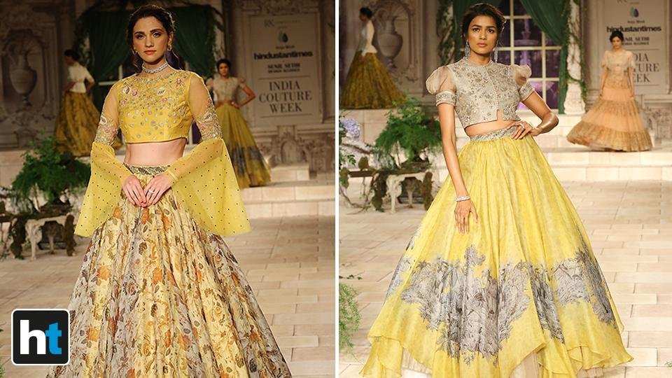 Titled A maiden prayer, designer Anju Modi's 2018 couture collection was a total deviation from her last one.  (Raajessh Kashyap/HT Photo)