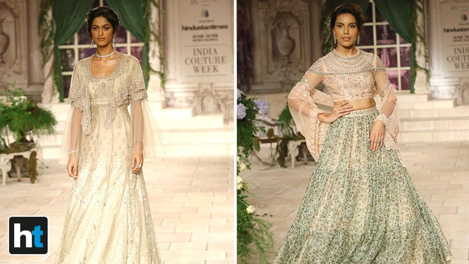 Rich and heavy fabrics such as velvet, silk and brocade dominated the ensembles.  (Raajessh Kashyap/HT Photo)